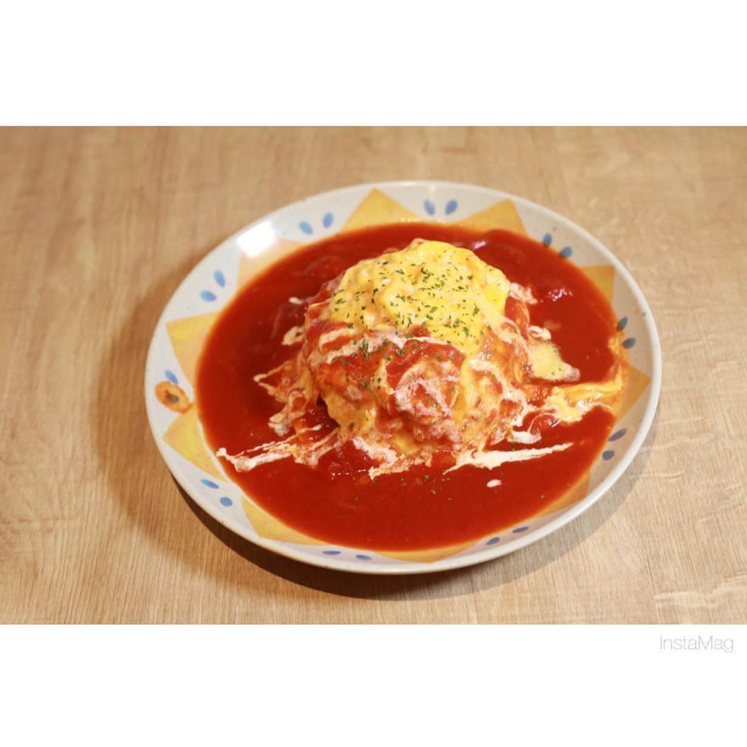 岡崎農場のトマトソースオムライス♪