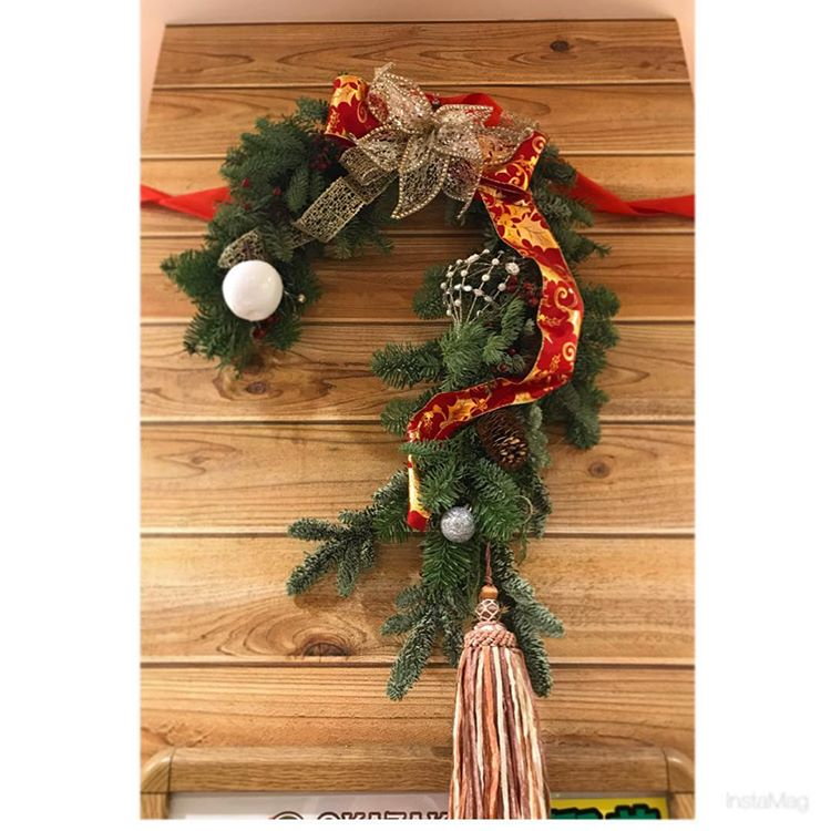 岡崎農場のクリスマスツリーは本物のモミの木♪