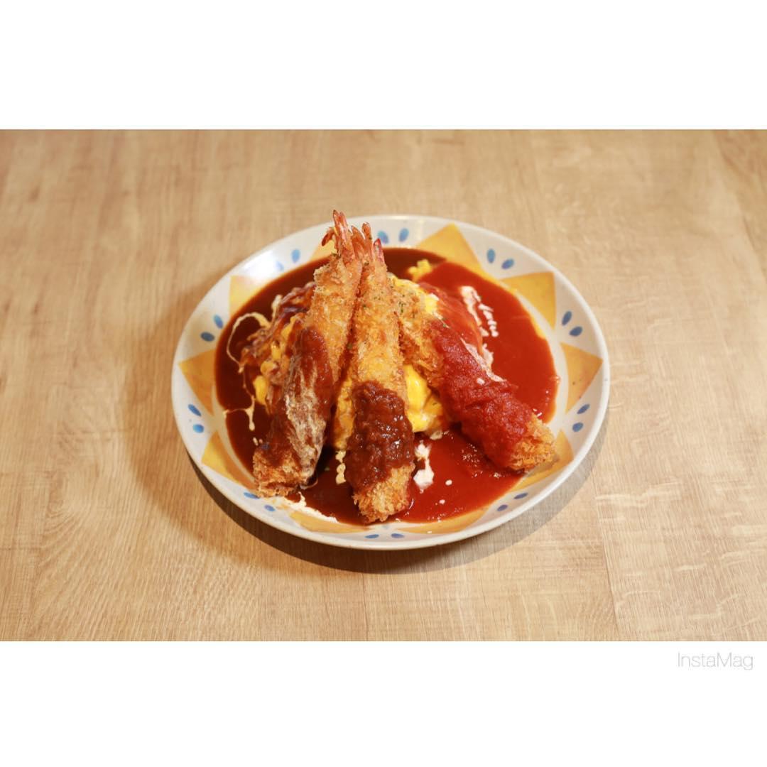 4月27日~5月2日「海老フライダブルオムライス」500円