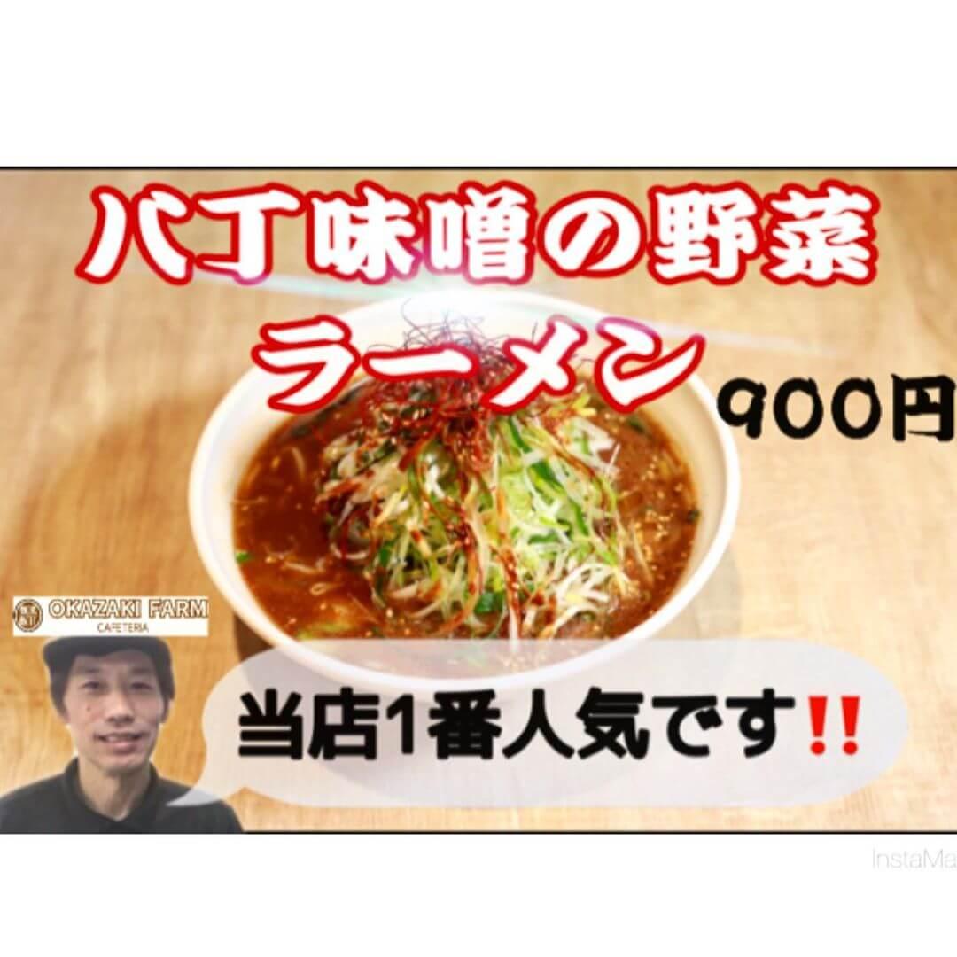 岡崎名物!八丁味噌の野菜ラーメン!
